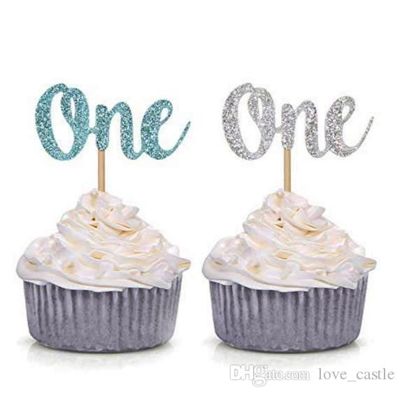 Blue And Silver Litter One Cupcake Toppers Baby Boy First Birthday Decorations Cake Decoration Presents For Boys Aged 5 Unusual Gifts From Love Castle