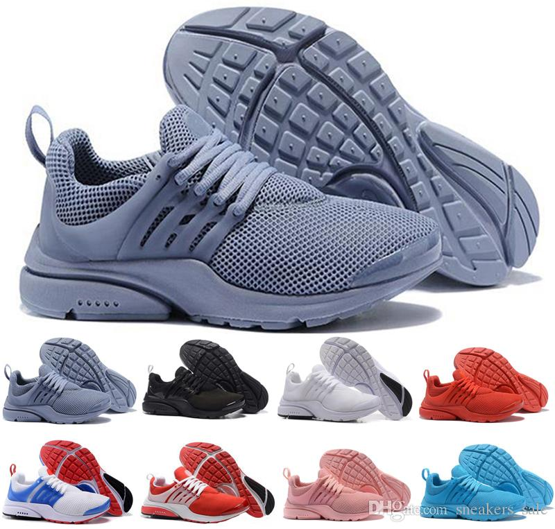 dfe3f7f4c42 Acheter Nike Air Presto Nouveau Presto BR QS Respirez Comft Rouge Hommes  Baskets Prestos Femmes Chaussures De Course Impie Cumulus Designer Designer  ...