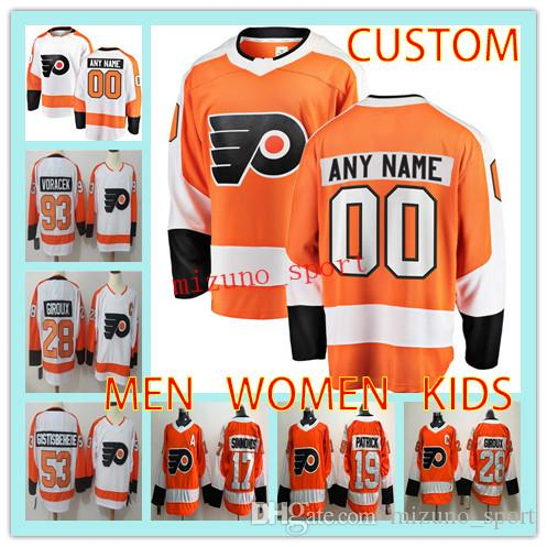 4283716d7 Custom Hockey Jersey PHILADELPHIA FLYERS MEN WOMEN KIDS Any Name ...