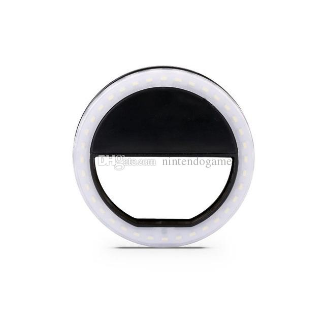 In Stock Battery Style 8cm*3cm LED Selfie Ring Light Flash Spotlight Circle Round Photo Camera Fill Light Lamp For all smartphone XJ01