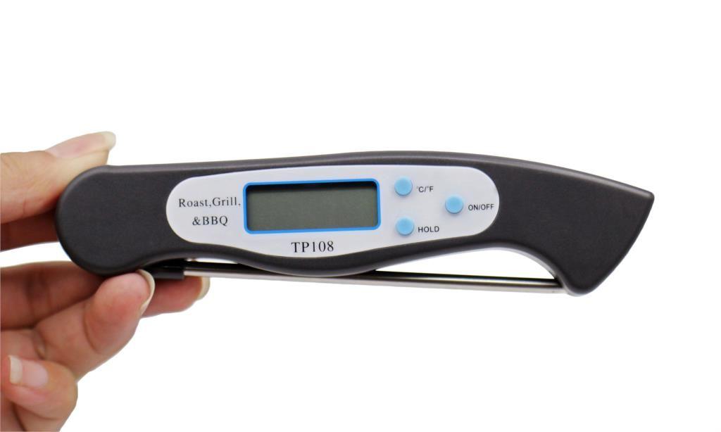Dobrável Digital Sonda Termômetro PARA CHURRASCO Instantâneo Ler Medidor de Temperatura Dobrável Carne Comida Termômetro De Cozinha Líquido Ferramentas De Cozinha De Óleo De Água