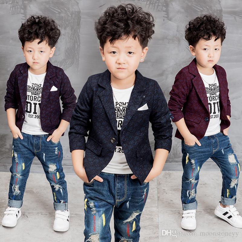 bb52047243b5 Autumn Children Kids Boys Coats for Infantis Boy Coat Blazer Casual ...
