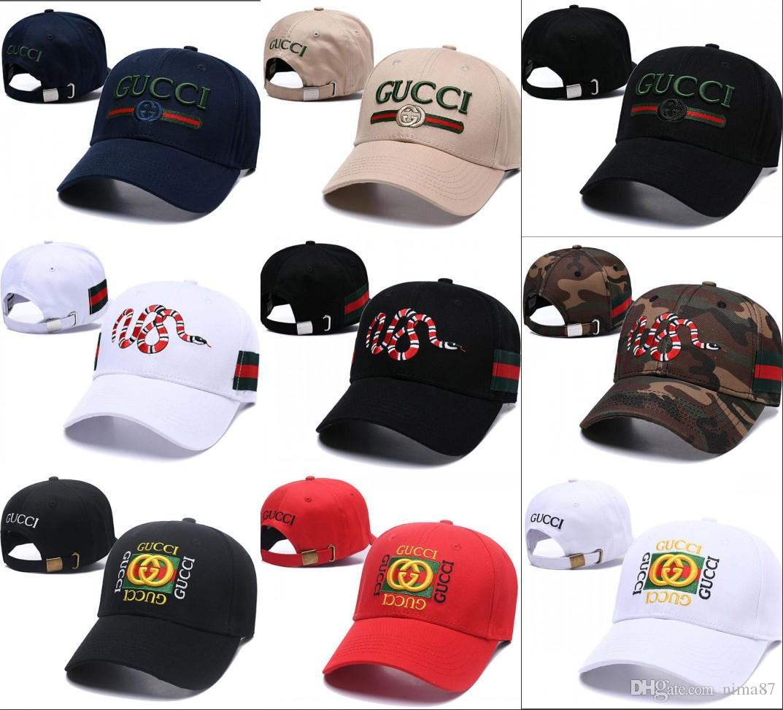8a65bfa72bd 2019 New Luxury Brand Golf Sports Hat Snake Baseball Cap 6 Panel Skateboard Black  Snapback Dad Hats Casual Visor Gorras Bone Casquette Cap Richardson Caps ...