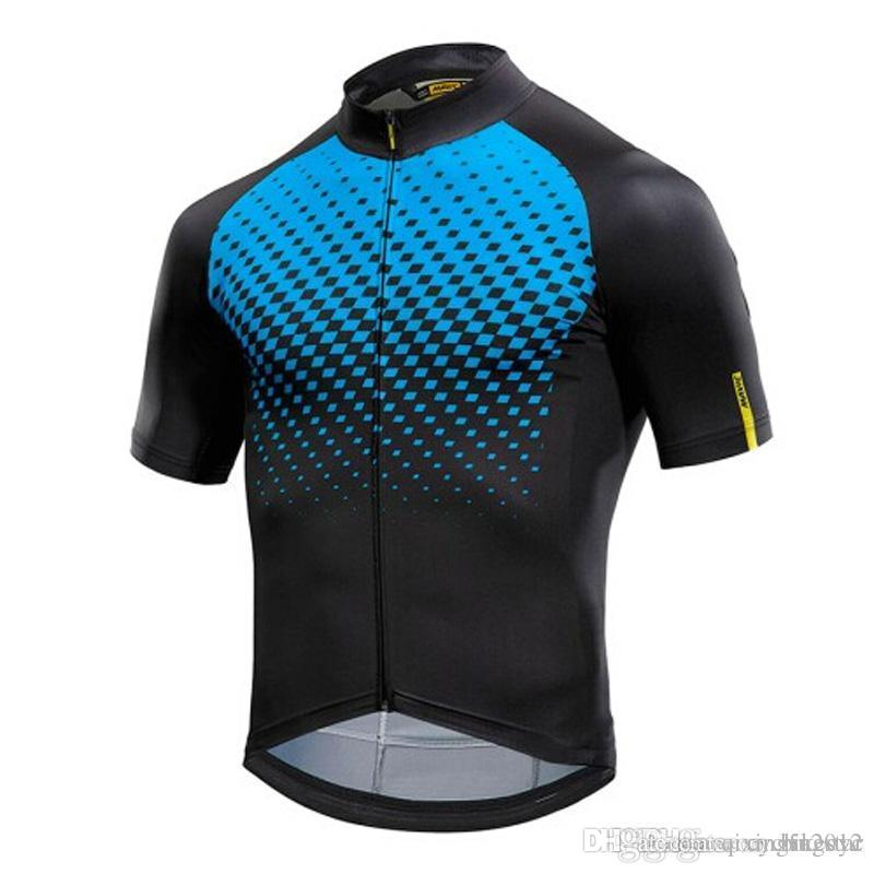 2018 Mavic Cycling Jersey Cycling Clothing Racing Sport Bike Tops ... c5cce490a