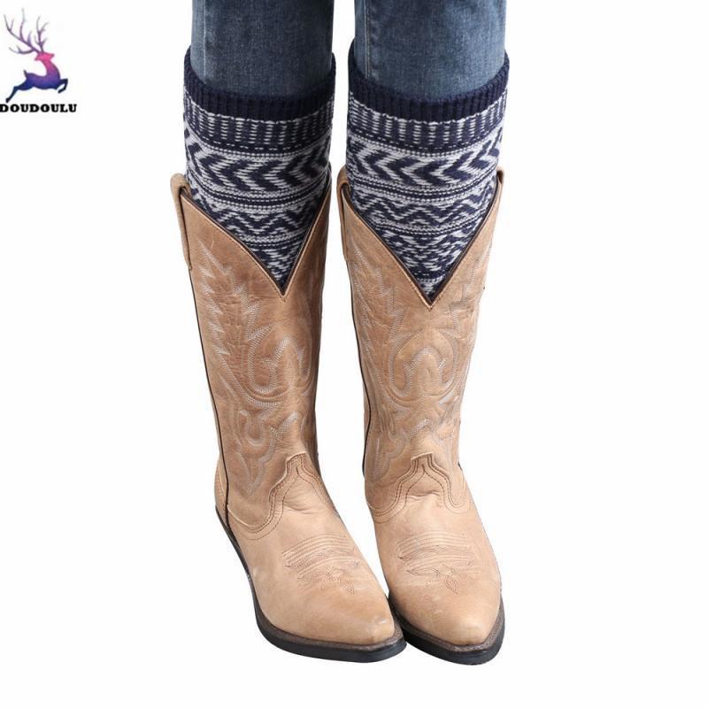 e33553fa80e 2019 DOUDOULU Fashion Spring Summer Sexy Women Jacquard Knitted Leg Warmers Socks  Boot Cover Drop Shipping From Dayup