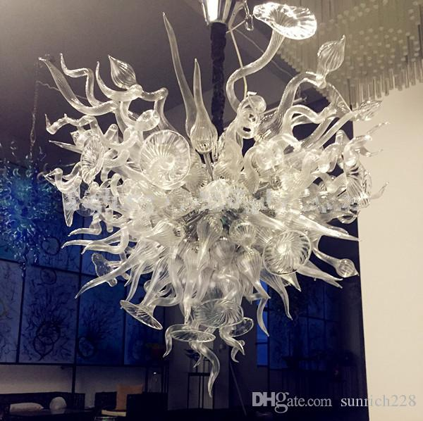 100% Mouth Blown Borosilicate Italian Designer Lamps for Home Led Lighting Chihully Style Murano Glass Art Chandelier