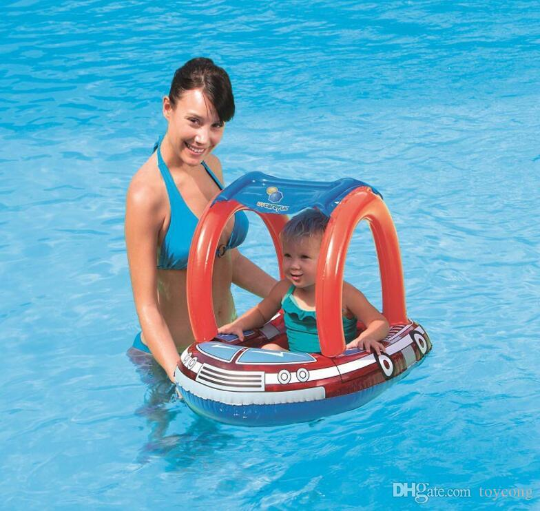 Children's baby sunshade sitting circle baby bath swimming circle thickened armpit floating circle water inflatable toys are welcome to buy