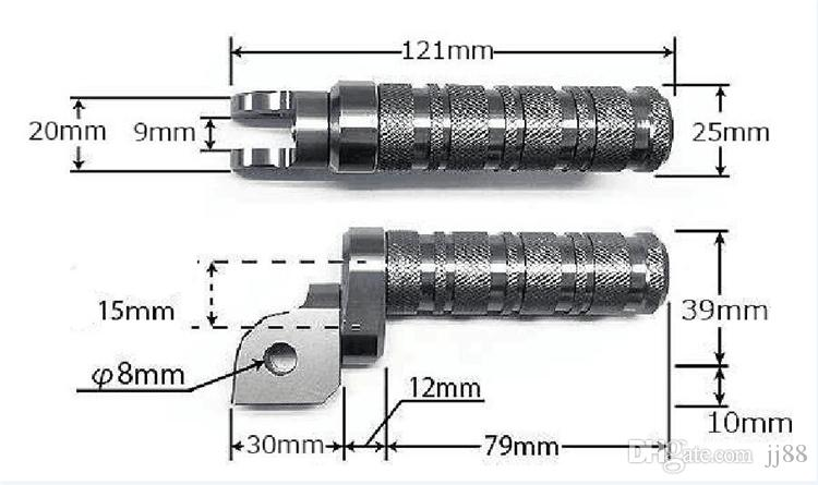 For Yamaha Universal CNC Aluminum Motorcycle Round Foot Pegs Front Rider Footpegs Pedals Footrests