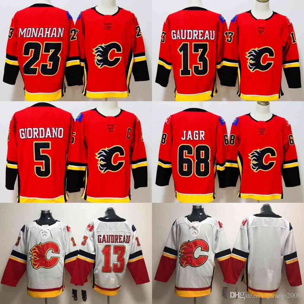 Men 2018 Season Calgary Flames Jersey 68 Jaromir Jagr 13 Johnny ... d6c6c316f