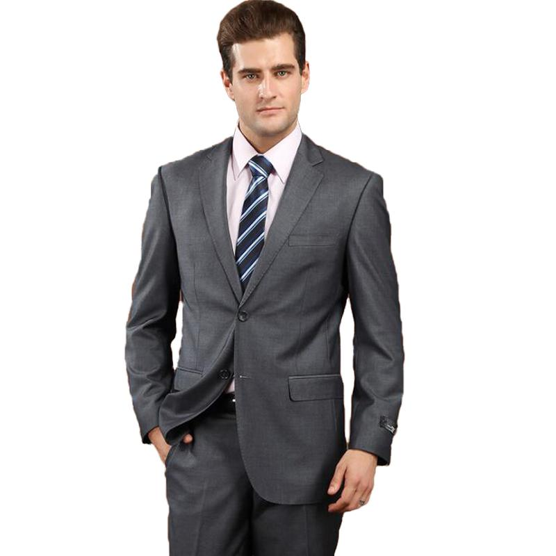 7d02a79f30 2019 Formal Man Suit 2018 Latest Coat Pant Design Suits Set With Pants High  Quality Male Deep Gray Business Slim Fit Classic Costumes From Nevalee, ...