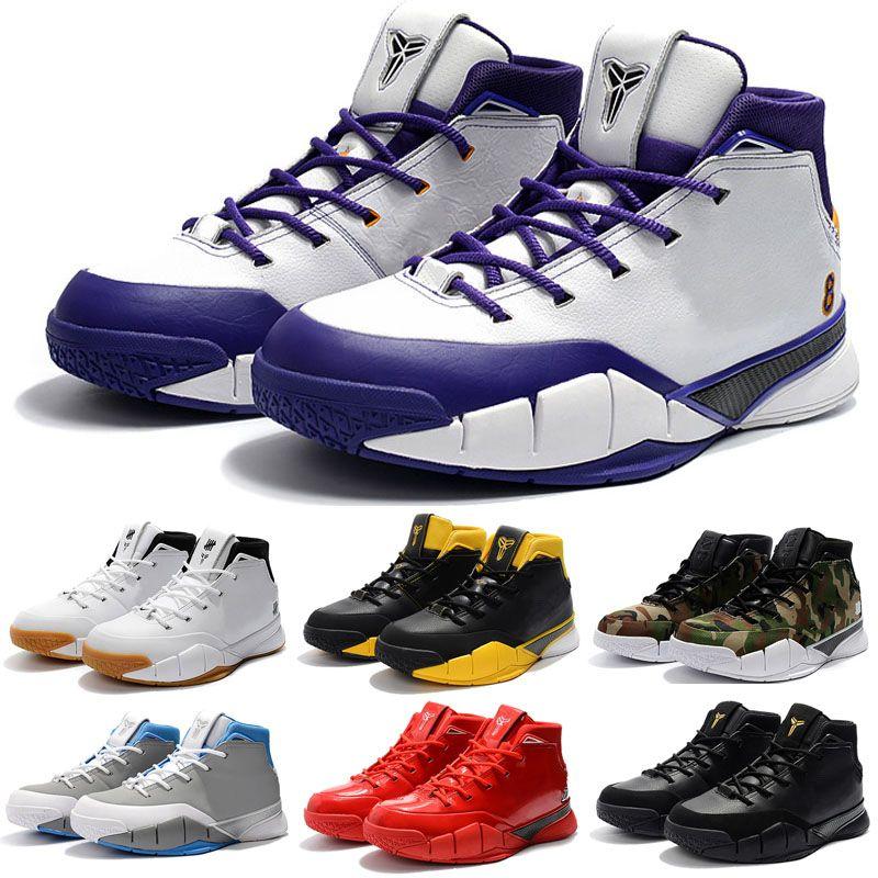 quality design c66c6 b7e57 Acheter Bon Marché Kobe 1 Protro Air Chaussures De Basket Ball Hommes Violet  Pourpre Close Out Mamba Protrotv Invaincu UND Fade Devin Booker PE Mode  Sport ...