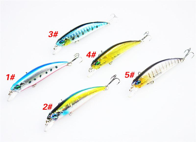 Freshwater Fishing flicker Minnow Laser bait 6.5cm 4g 3D Holographic eyes Rattlin Crank Hard Lure