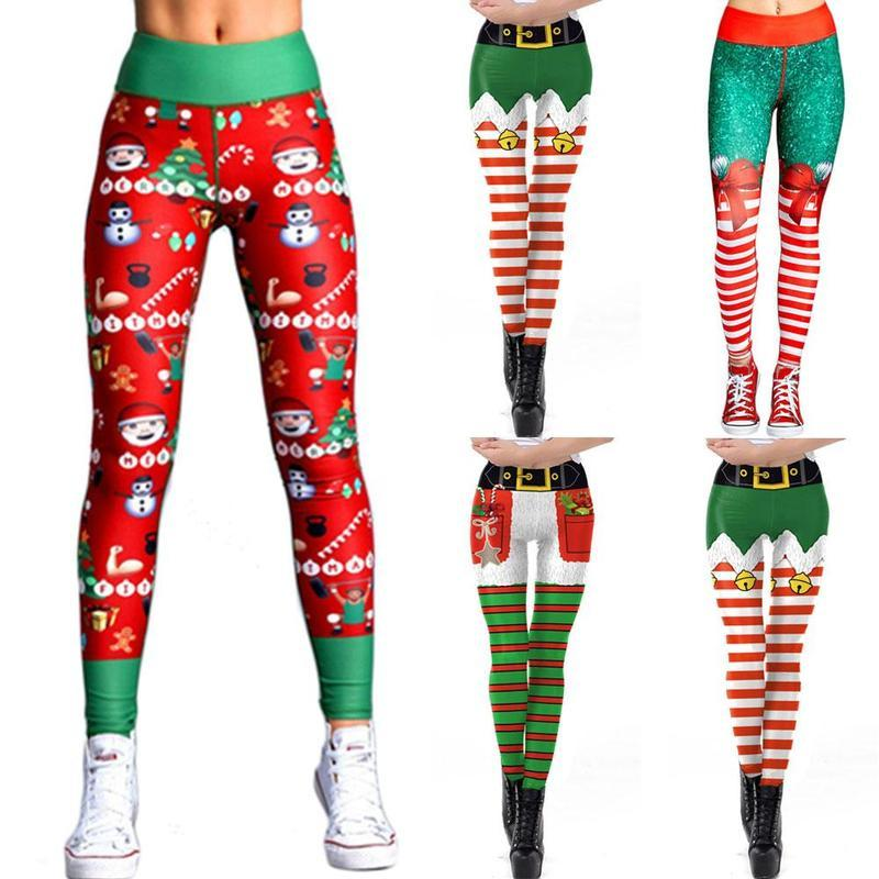 2297677373017 2019 Sports Christmas Printing Running Leggings Put Hip Elastic High Waist  Legging Breathable Merry Christmas Navidad Pants Mujer NEW From  Yiquanwater, ...