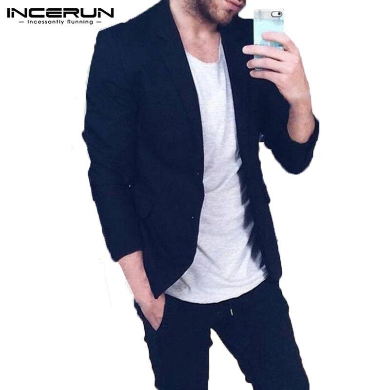 timeless design 57abe 081d1 INCERUN Moda Uomo Giacche lunghe Cappotti Classici Giacche Trench Abiti  invernali Solid Slim Fit Gentleman Outwear Hombre Soprabito