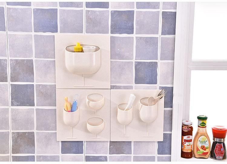 Creative Wall DIY Box Without Mark Strong Paste Bedroom Living Room Bathroom Cosmetics Storage Rack Locker Online With