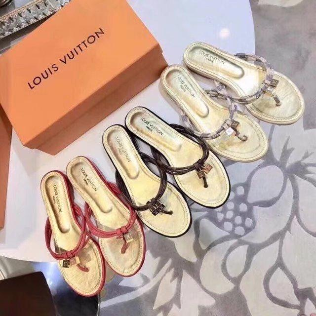 5f55e002bb0e Top Quality Luxury Women Letter Printing Casual Flip Flop Genuine ...