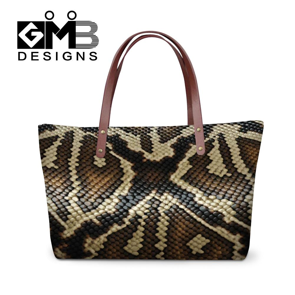 22686713a37f Dispalang Personalized Snake Skin Printed Handbags Women Shopping Totes Bags  Ladies Travel Bag Girls Casual Tote Eveing Hand Bag Satchel Messenger Bags  From ...