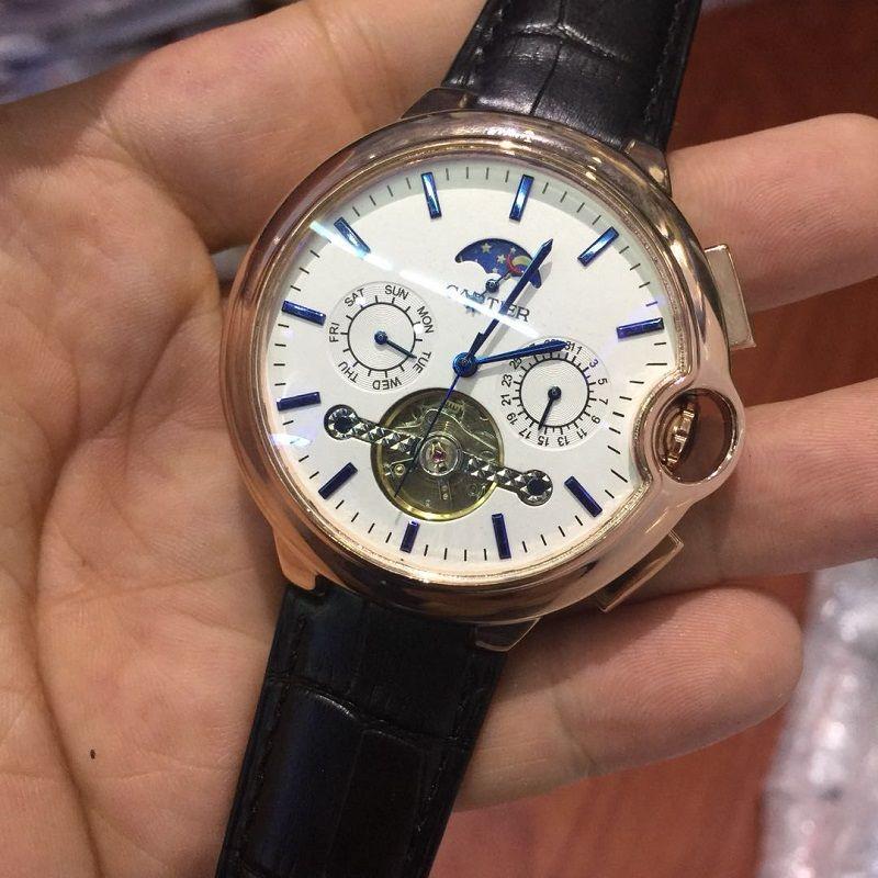 bf6247a8eec Compre Mecânico Relógio Automático Dos Homens Do Esporte Tourbillon Top  Marca De Luxo Relógios Estrelas Da Lua Fase Moda Mens Relógios De Pulso  Relogio ...