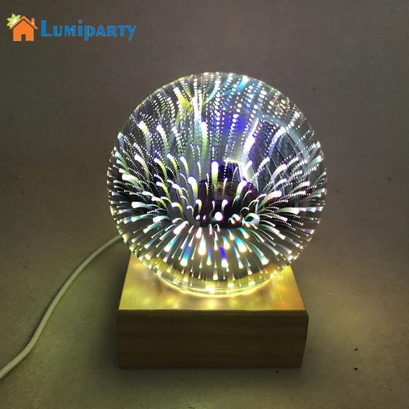 Pour 3 W Sphère V Lumiparty Boule De Avec 5 Usb Lumière La Maison Lampe À Chambre Coloré Base Rechargeable Décor Magique Cristal Chevet ZiXwPkTOu