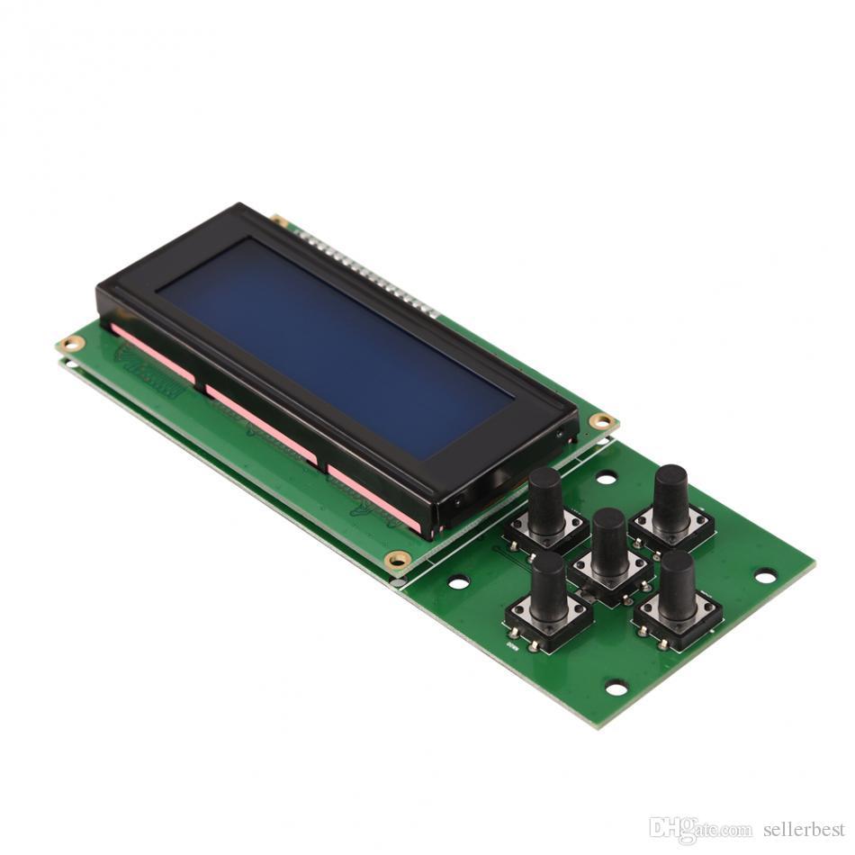 5 Tasten 20 x 4 LCD-Blau-Schwarzlicht-Bildschirm-Modul mit Flachbandkabel für 3D-Drucker