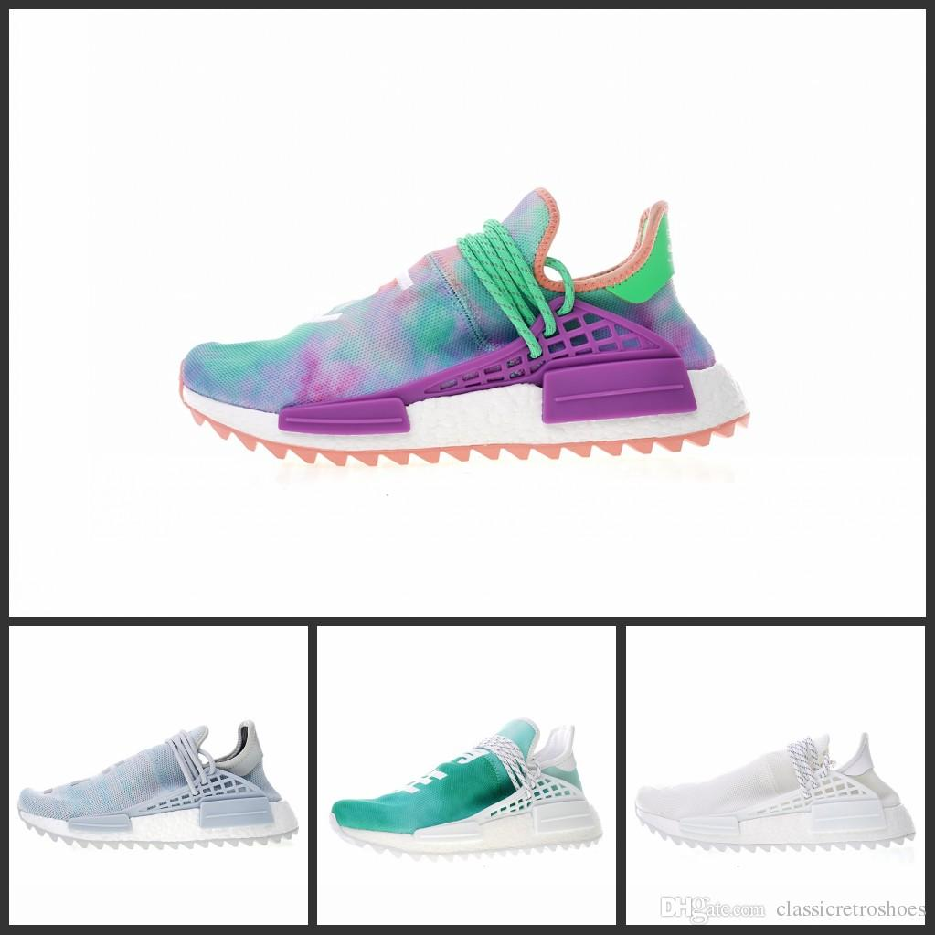 1302738ef98e0 2019 Cheap Wholesale NMD HUMAN RACE Pharrell Williams X 2016 Men S    Women S Discount Cheap Fashion Sport Shoes Free Ship With Box Mens Dress  Shoes Platform ...