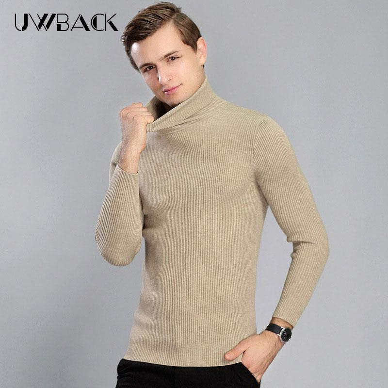 4b48d6594c7f 2019 Uwback 2017 Winter Men Wool Turtleneck Sweaters Elasticity Slim Navy  Pullovers Thick Warm Quality Cashmere Fit Knitwear XA401 From Alberty