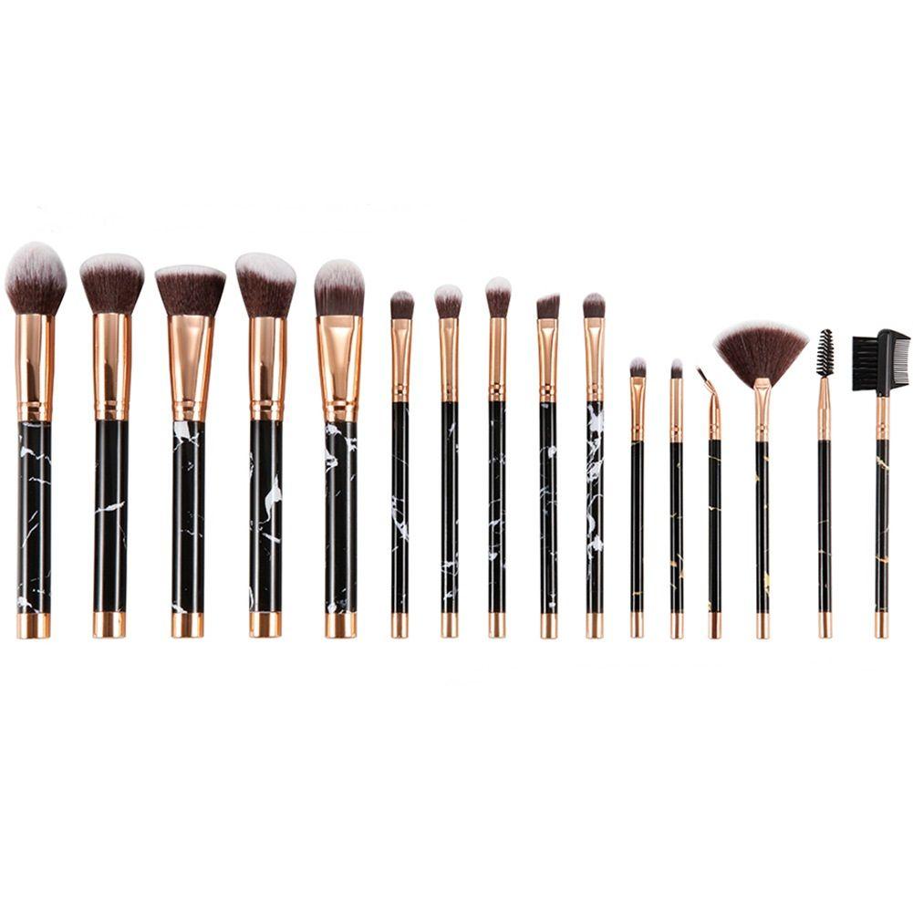 96abb757acbb 16pcs Professional marble Makeup Brushes Set Powder Foundation Eyeshadow  Make Up Brushes Cosmetics Makeup Brush tools dhl free