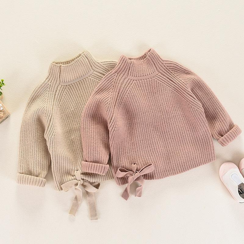 70ce0a556a5aee Girls  Sweaters Autumn And Winter Girl Knitted Long Sleeve Turtleneck Solid  Color Sweater Girl Warm Clothing Pullover Sweater Handmade Sweater Designs  For ...