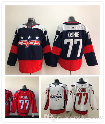 c0f35a606 2019 2019 New Mens 77 TJ Oshie Washington Capitals Hockey Jerseys Stitched  Embroidery 2018 Stanley Cup Final Champions Patch Capitals Jersey From  Retro time ...