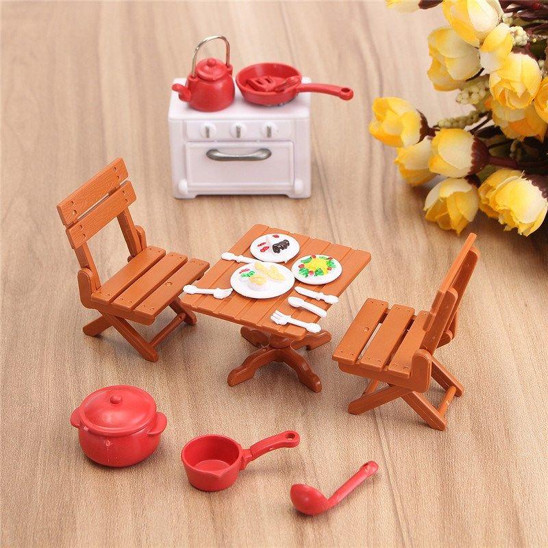 Elegant Diy Plastic Dollhouse Mini Picnic Set Acessories For Children 1/12 Dolls  House Miniatura Decor Table Furniture Toy Sets Dollhouse Furniture Kits  Cheap ...