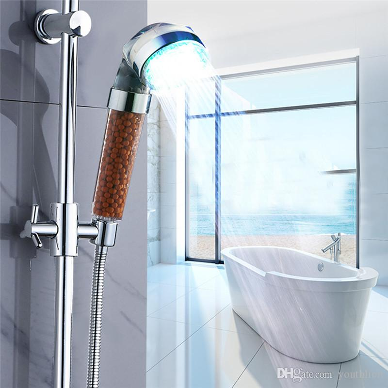 2018 Luminous Shower Led Automatic Control Luminous Shower Head ...