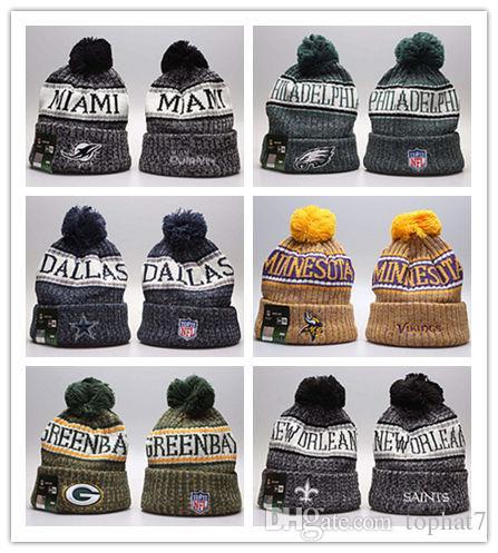 027a3302604 New Cheap Winter Beanie Knitted Hats Sports Teams Baseball Football  Basketball Beanies Caps Women Men Winter Warm Hat DHL Snapback Caps Baby  Hats From ...