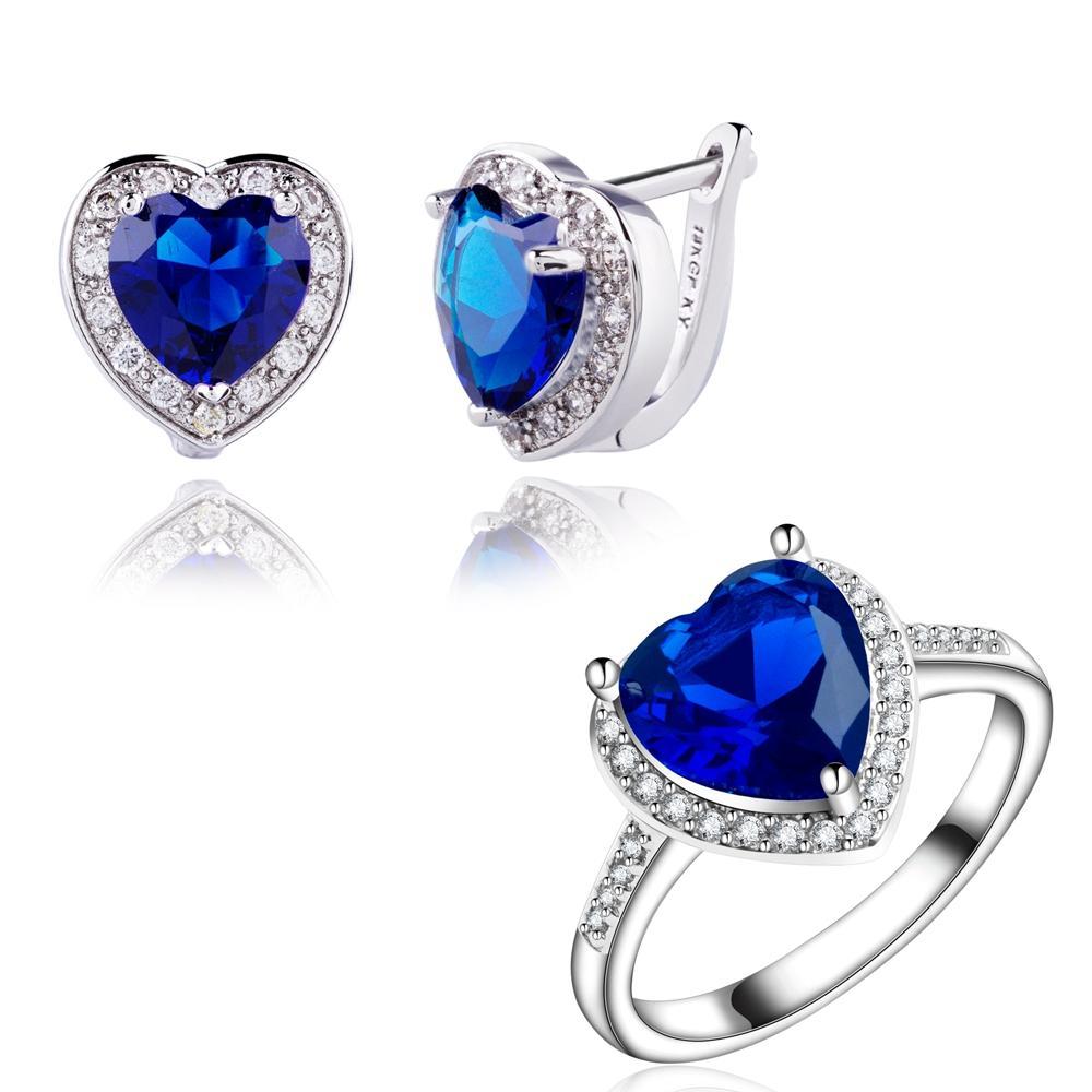 Earrings Yunkingdom Party Fashion Gold Earrings Cubic Zirconia Blue Crystal Long Earrings For Women Drop Earrings 2019 New