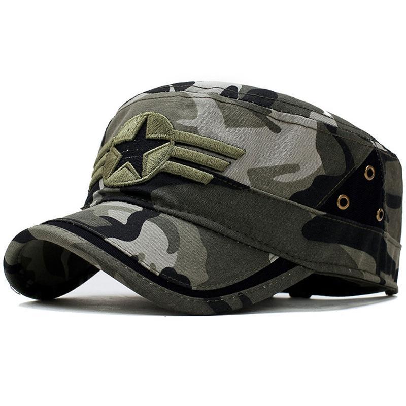 2cb0f4f9c Men s Tactical Cap Army SWAT Camo Combat Snapback Hat Hunter Outdoor Casual  Camping Camouflage Bone Baseball Cap Adjustable