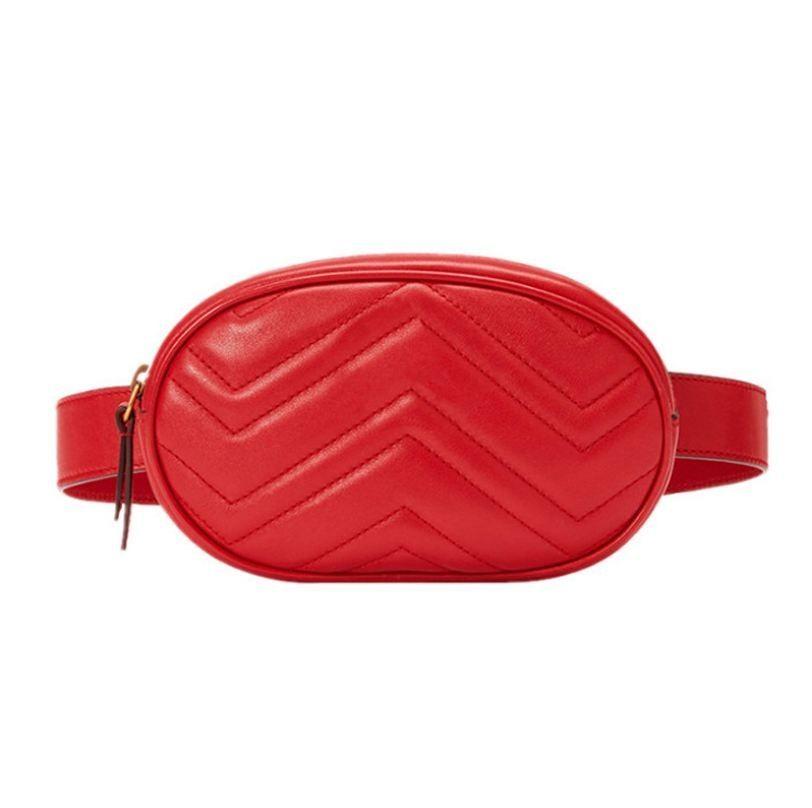96f9b361d63 2019 Newly Bags for Women Pack Waist Bag Women Round Belt Bag Luxury Brand  Leather Chest Handbag Beige New Fashion High Quality (Retail)