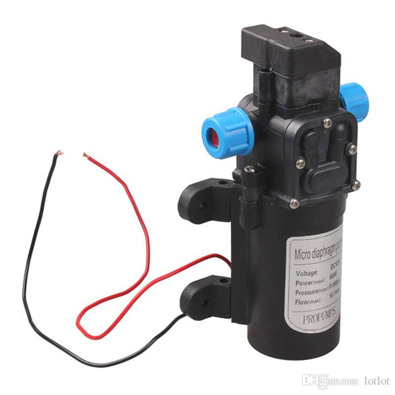 aquarium Water pump DC12V 60W High Pressure Micro Diaphragm Water Pump Automatic Switch Water air Pump 5L/min