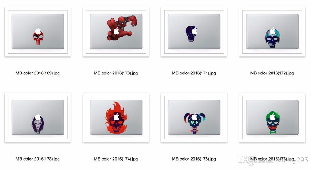 Kostenloser versand Laptop Vinyl Teilabziehbild DIY Persönlichkeit Aufkleber LeftRight Gehirn Druck Haut Für Macbook Air Pro Retina Touch Bar