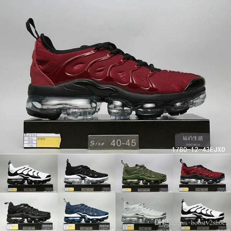 lowest price 9d718 662cb Nike vapormax TN plus 2018 nuevo envío de la gota TN para hombre Air Plus  TN Ultra zapatos deportivos TN Requin hombres zapatillas para correr 40-45