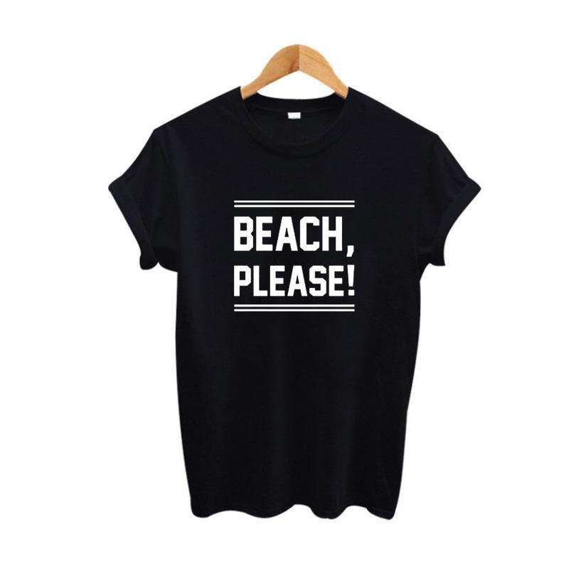 cf57bd0c27 Women'S Tee Beach Please Women Hipster Tops Punk Harajuku T Shirt Summer  Tumblr Funny T Shirts Fashion Women Clothing Best Designer T Shirts Funny  Team ...