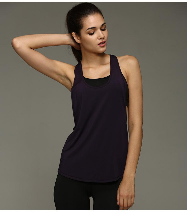 07032e3f99e7 Summer Sexy Women Tank Tops Dry Quick Loose Gym Fitness Sport ...