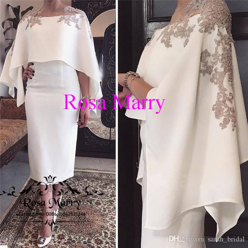 Plus Size Caped Mother Of The Bride Groom Dresses Pant