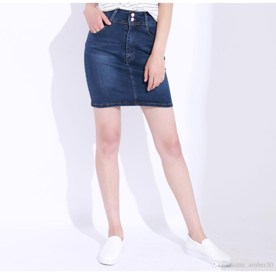 2eaa18b1c08 Women Skirt Plus Size High Waist Office Pencil Skirt Elastic Saias ...