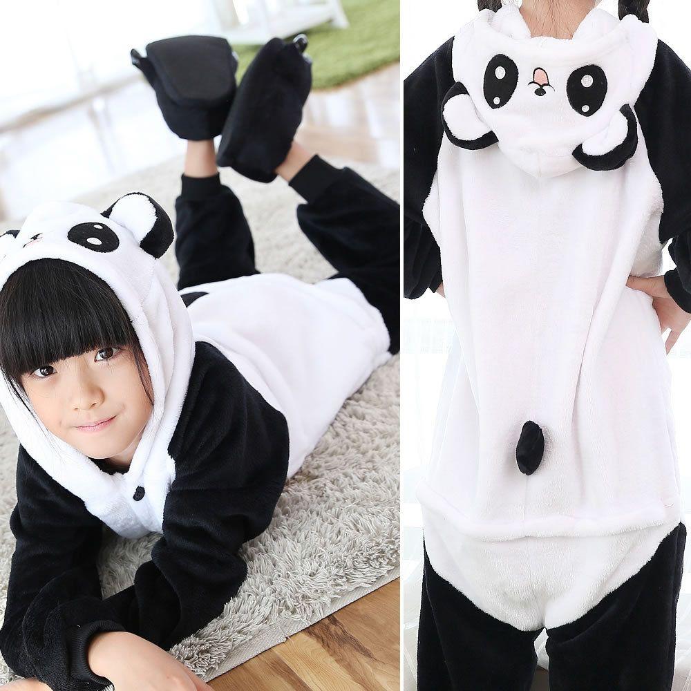 a4cc703111a3 Kids Kigurumi Panda Pajamas Onesie