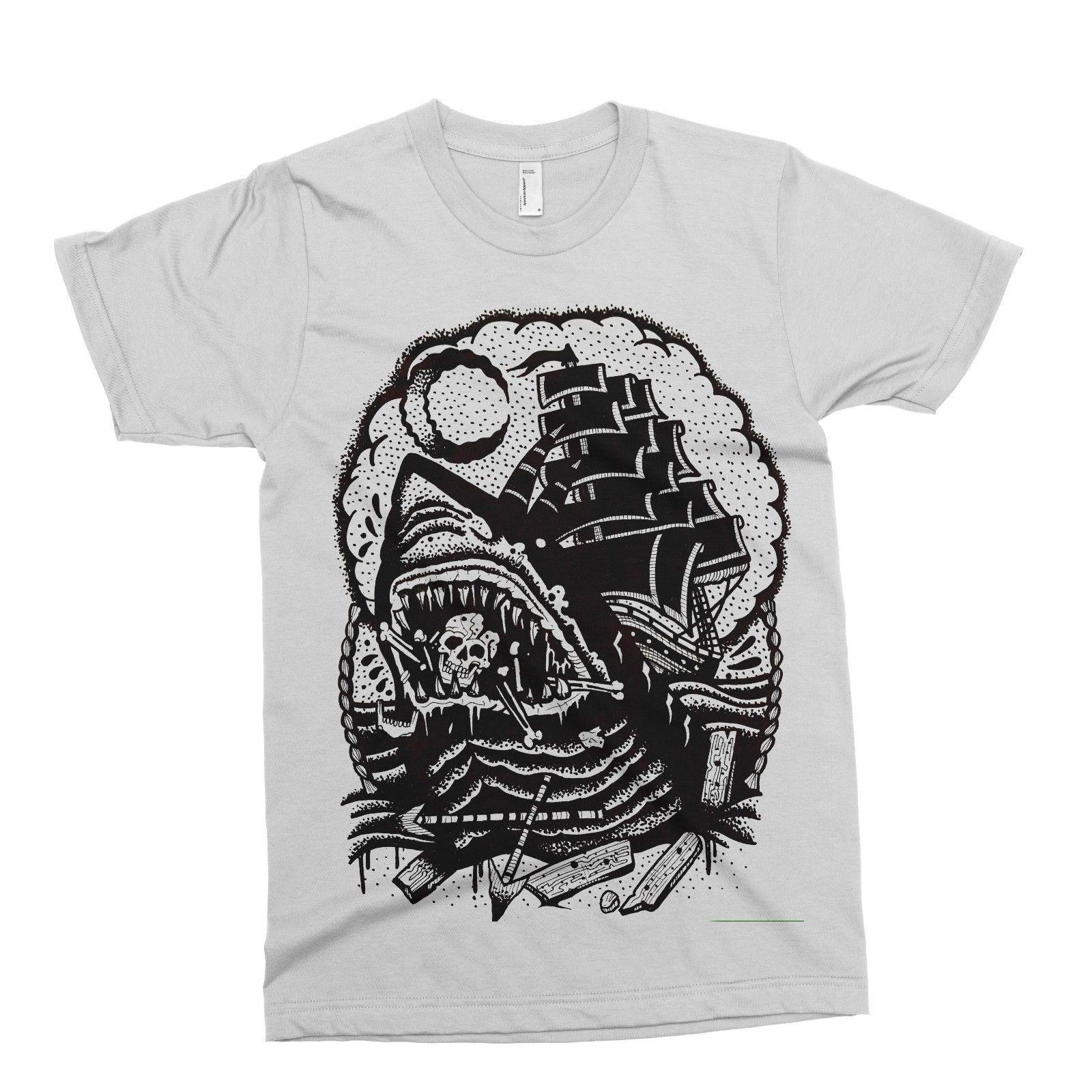 e7b980255d2 Pirate Ship T Shirt Tattoo Alternative Drop Dead Abandon Ship Ark Rebel  Circus Print T Shirt Harajuku Short Sleeve Men Top T Shirt Making T Shirts  For Sale ...