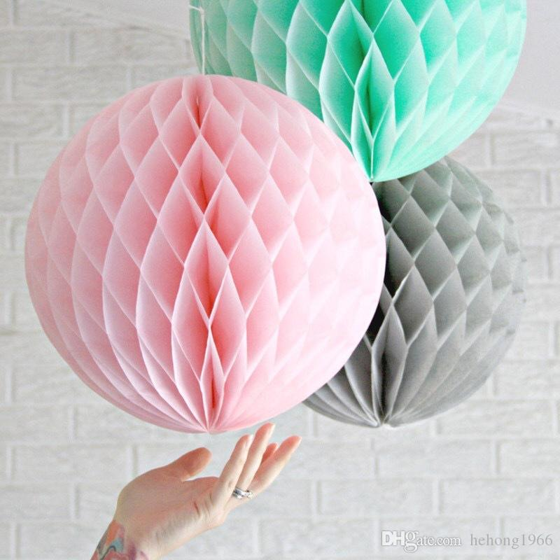 Colorful Decorative Paper Balls Tissue Party Decorations Honeycomb Pompom Lantern Craft Wedding Event Supplies Hot Sale 2 5xh Z