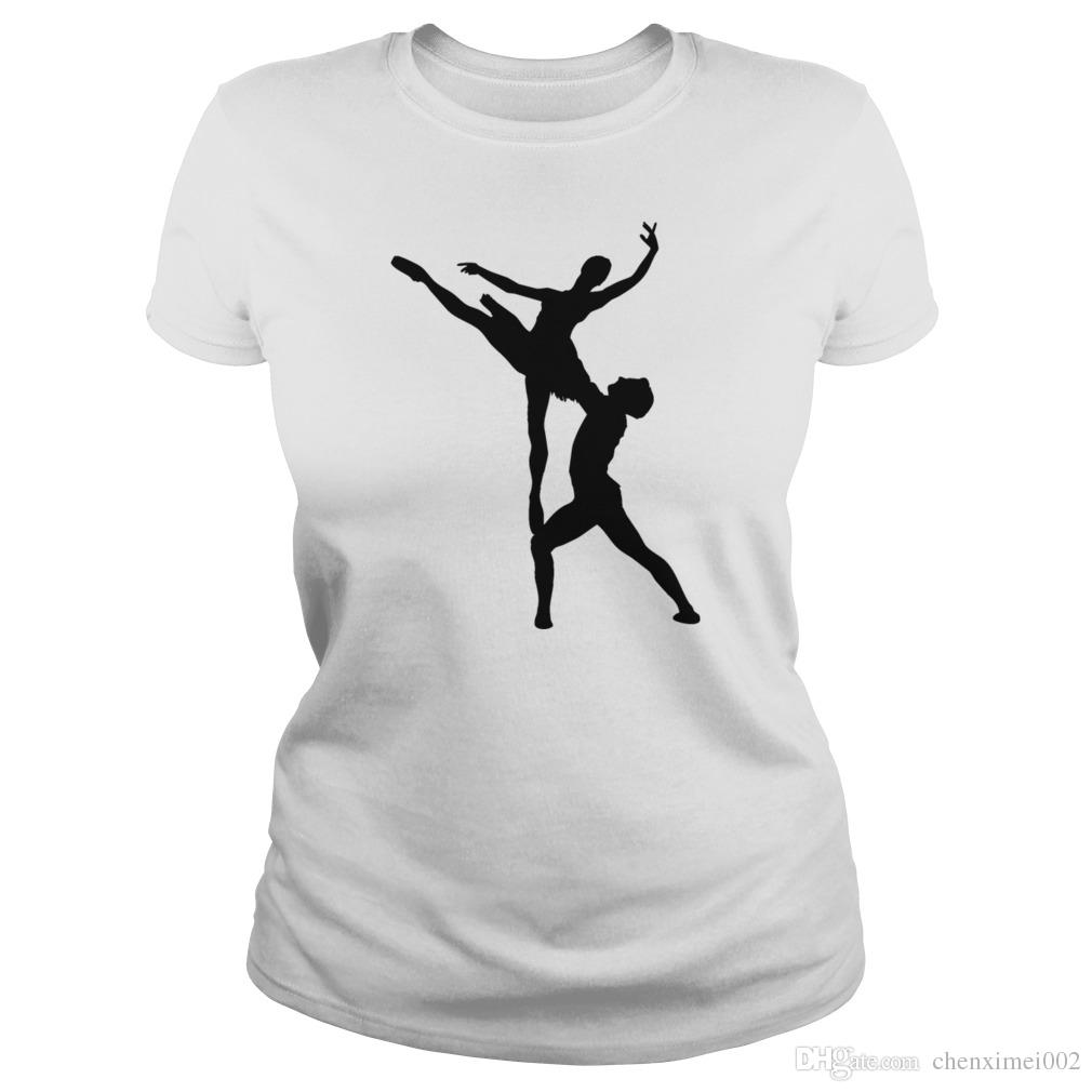 c60019115 Woman And Man Ballet Silhouette T Shirt Online Buy T Shirts Tna ...