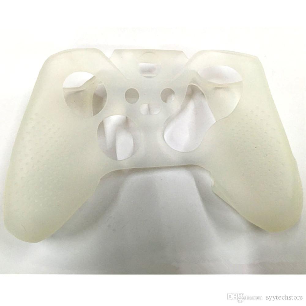Freies Verschiffen schützender weicher Silikon-Gel-Gummiabdeckungs-Haut-Kasten für Xbox eine Auslese-Prüfer-Schwarzes, weiße, rote, blaue Farbe