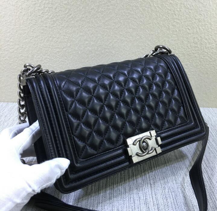 Classic Le Boy Flap Bag Women s Plaid Chain Bag Ladies Luxury High ... 5d8f58b796c3