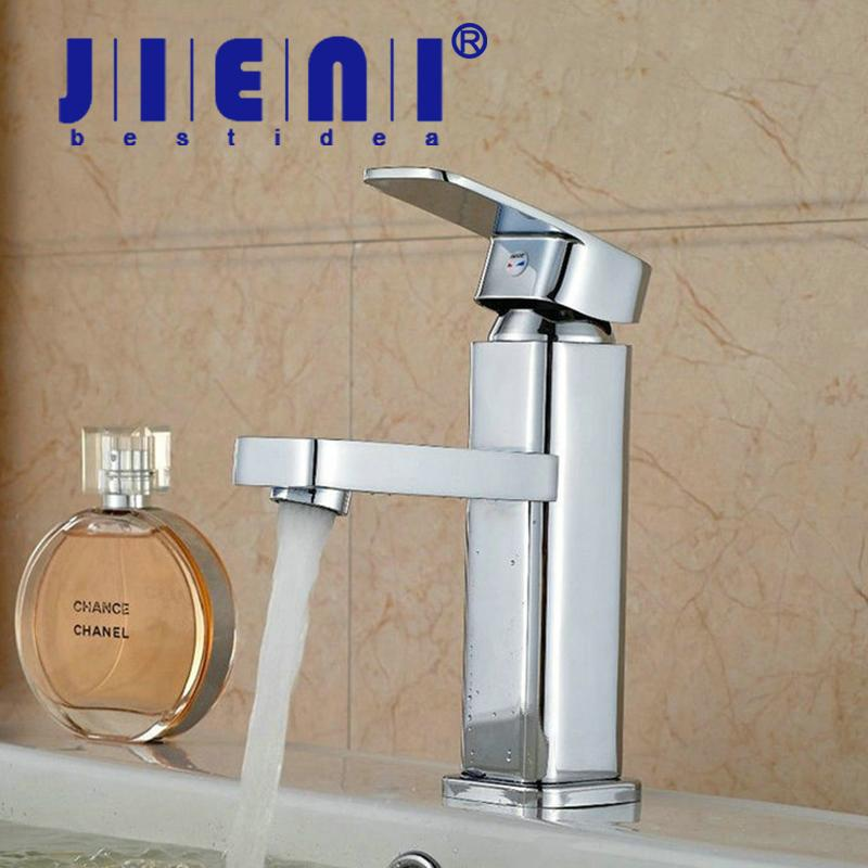 2018 Jieni Chrome Brass Bathroom Faucet Vesssel Sink Basin Faucet Mixer Tap  Single Handle Lavatory Faucets Cold Hot Water Taps From Rosaling, ...
