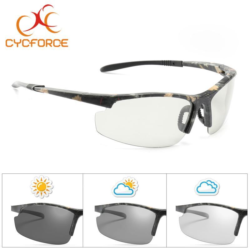 16a96bcae4 CYCFORCE Photochromic Polarized Cycling Glasses Bike Outdoor Sports ...